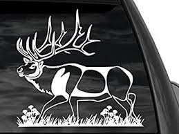 Amazon Com Fgd Bull Elk Hunting Window Decal Car Truck Suv 12 X11 Automotive