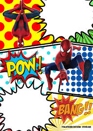 Free Marvel Spiderman Comic Style Invitation Template Cumpleanos