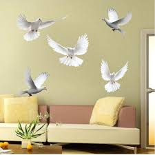 Doves Wall Sticker Decal Dove Wall Art Large Flying Birds Wall Decals American Wall Designs