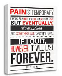 Amazon Com Torass Canvas Wall Art Print Motivational Eric Thomas Inspirational Quote Pain Is Motivation Artwork For Home Decor 12 X 16 Posters Prints