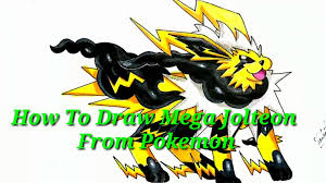 Crazy Art - How to Draw Mega Jolteon from pokemon - No - 33 ...