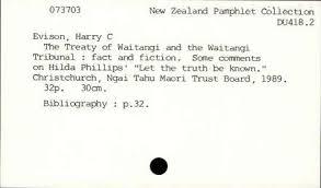 The Treaty of Waitangi and the Waitangi Tribunal : fact and ...