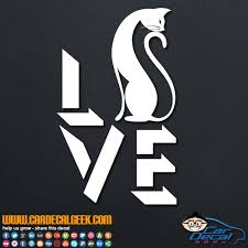 Cat Love Car Window Vinyl Decal Sticker Cat Decals