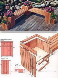 planter bench plans outdoor furniture