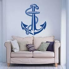 New Arrival Nautical Ship Anchor Sailor Boat Wall Decal Home Decor Art Wall Sticker Vinyl Mural Carved Wall Paper Es 51 Art Wall Sticker Wall Stickerwall Decals Aliexpress