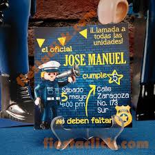 Policia Playmobil Invitacion Todo Para La Fiesta