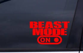 Beast Mode On Style 1 Size 7 Color Gloss Red Vinyl Decal Window Sticker For Cars Trucks Windows Walls Laptops And Other Stuff Buy Online In Oman Kws Products In Oman