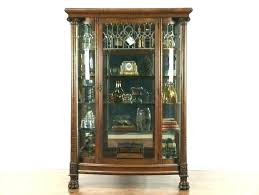 antique glass china cabinet