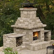 cinder block outdoor fireplace plans