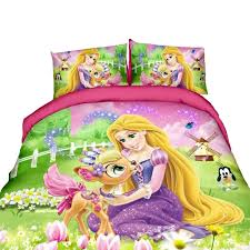Tangled Rapunzel Princess Bedding Set For Kids Bedroom Decor Single Twin Size Bedspreads Duvet Covers Sheets Girls Home 2 4pcs Bedding Sets Aliexpress