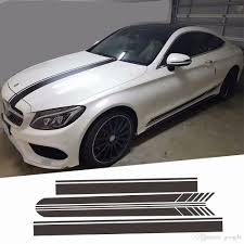 2020 For Mercedes Whole Sticker Racing Line Car Hood Roof Tail Body Decorative Decal Side Skirt Stickers Fit For Benz A B C E S Class From Googjle 12 25 Dhgate Com