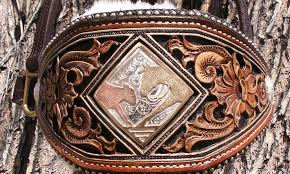 custom leather bronc halters for horses