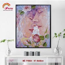 Tranh số hóa tự tô màu DIY về tình yêu - Mã TY0654
