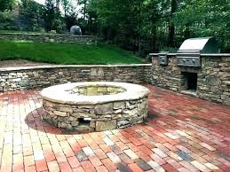 brick patio with fire pit followdiy me
