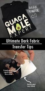 Ultimate Dark Fabric Transfer Tips Nufun Activities Transfer Paper Sticker Backing Paper Printing On Fabric