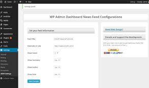 wp admin dashboard news feed plugin