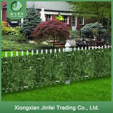 China Wholesale Uv Protected Artificial Ivy Leaf Fence Roll For Vertical Wall Garden Decoration China Artificial Plant And Fence Price