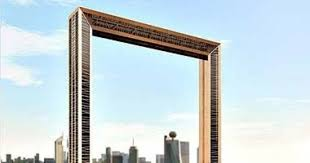 giant golden dubai frame opens after