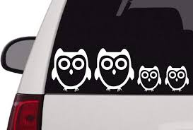 Amazon Com Maxx Graphixx Family Car Decal Owl Family Car Decal Owl Family Decal Stick Figure Family 2 Adults 3 Children Automotive