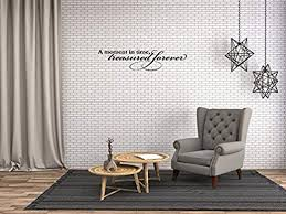 Amazon Com A Design World Removal Wall Quote A Moment In Time Treasured Forever Wall Quote Decal Inspirational Family Words Quote Vinyl Family Wall Sticker Wall Decal Family Room Art Decoration Home
