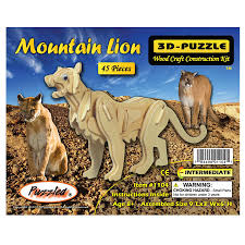 Mountain Lion 3D Wooden Puzzle