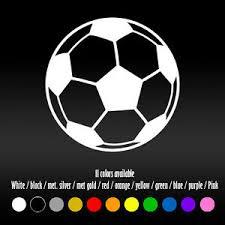 4 Soccer Ball Team Sports Diecut Car Bumper Window Vinyl Decal Sticker Ebay