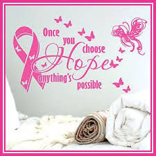 Wall Quote Vinyl Decal Sticker Art Pink Ribbon Hope Vinyl Wall Quotes Sticker Art Pink Ribbon