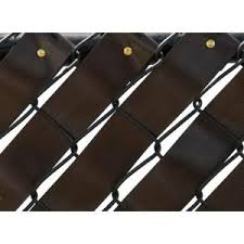 Pexco 250 Ft Fence Weave Roll In Brown Fw250 Brown The Home Depot Fence Weaving Fence Fabric Fence