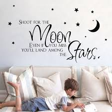Hot Sell On Ebay Shoot For The Moon Star Wall Quote Sticker For Kids Boy Room Decoration Baby Boy Wall Decals Sell Mushrooms Ebay Phoneebay Lamp Aliexpress