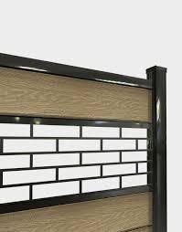 Laser Cut Fence Panel Openwork Aluminum Molding 12 Bricks Sgc