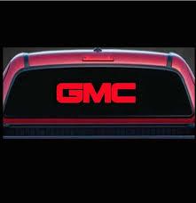 Gmc Trucks Rear Window Decal Sticker Custom Sticker Shop