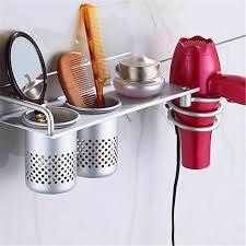 aluminum wall mounted hair dryer holder