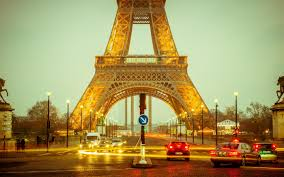 باريس برج ايفل مساء Hd سطح المكتب خلفية عريضة عالية الوضوح ملء