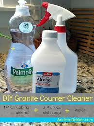 diy granite countertop cleaner andrea