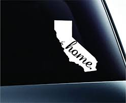 Amazon Com Expressdecor 2 Home California Symbol Decal Family Love Car Truck Sticker Window White Automotive