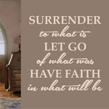 Religious Wall Decal Surrender Let Go Have Faith