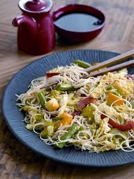 vegetable stir fry with rice noodles recipe
