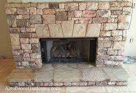dry stack stone fireplace art of