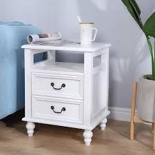 solid wood bedside table european small