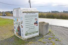 donation bins scarce in langley as