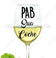 Amazon Com Pmihwh0023 Decal Mug Pab Sua Tick Wine Glass Wine Cup Decal Sticker Sticky Glass Teacher Gift Glassware Drinkware