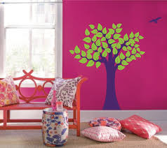 Large Wall Tree Nursery Decal Girl Room Decor With Leaves And Birds 1137 Innovativestencils