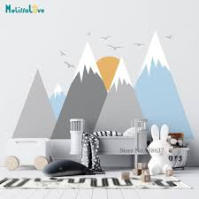 Mountain Woodland Wall Decal Bird Sun Baby Room Nursery Adventure Theme Removable Vinyl Wall Stickers Ba973 Buy At The Price Of 11 96 In Aliexpress Com Imall Com