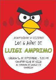 Tarjetas De Invitacion De Angry Birds Imagui