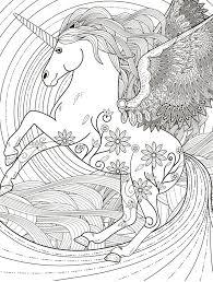 Eenhoorn Kleurplaten Voor Volwassenen Sprookjes En Mythologie