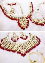 gold plated real kundan choker necklace