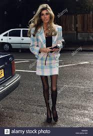 Mandy Smith Model Ex wife of Rolling Stones Bill Wyman arrivng back Stock  Photo - Alamy