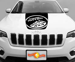 Product 2014 2017 Jeep Cherokee Trail Rated Sport Vinyl Hood Decal Sticker Graphic 2