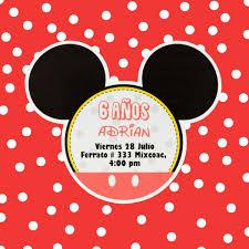 Invitaciones Cumpleanos Mickey Mouse Economicas 7 00 En