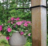 Amazon Com 13 1 4 Metal Hanging Plant Fence Post Hanger Slips Over Any 4 X 4 Deck Patio Lawn Garden Hanging Plants Small Patio Garden Lawn And Garden